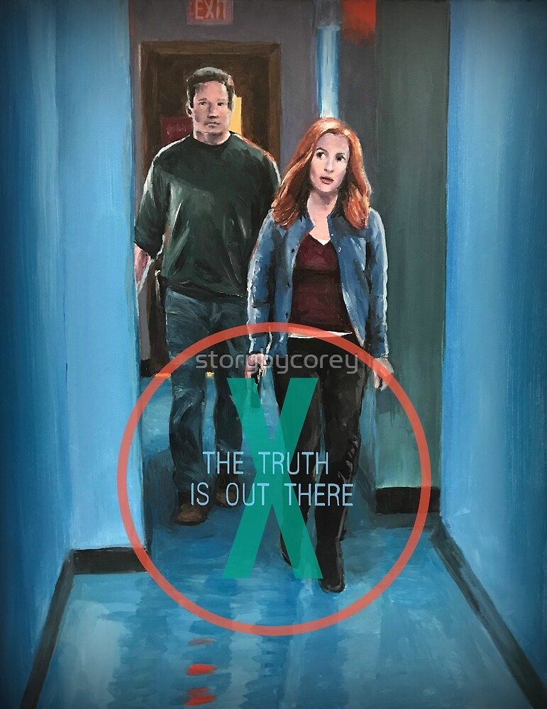 X Files Truth is Out There Mulder Scully Season 11 original painting by storybycorey