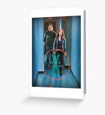 X Files Truth is Out There Mulder Scully Season 11 original painting Greeting Card