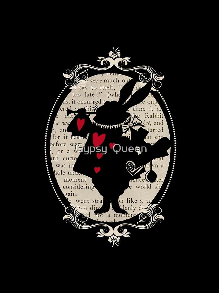 Alice In Wonderland White Rabbit Vintage Book by nomadartstudio