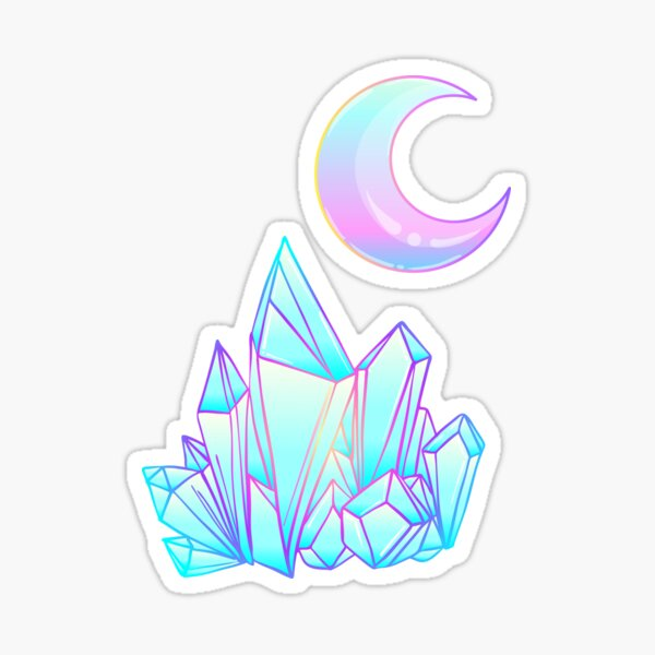 Moon and Crystal Sticker