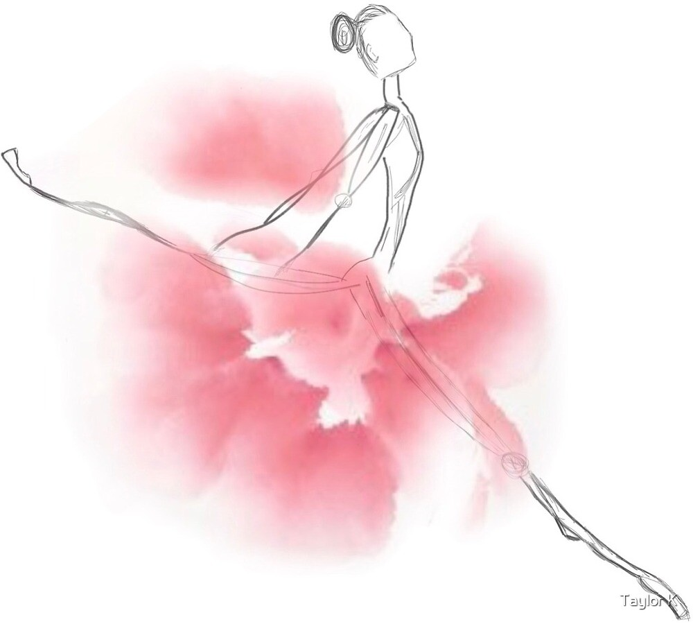 Pink Leaping Dancer  by Taylor K