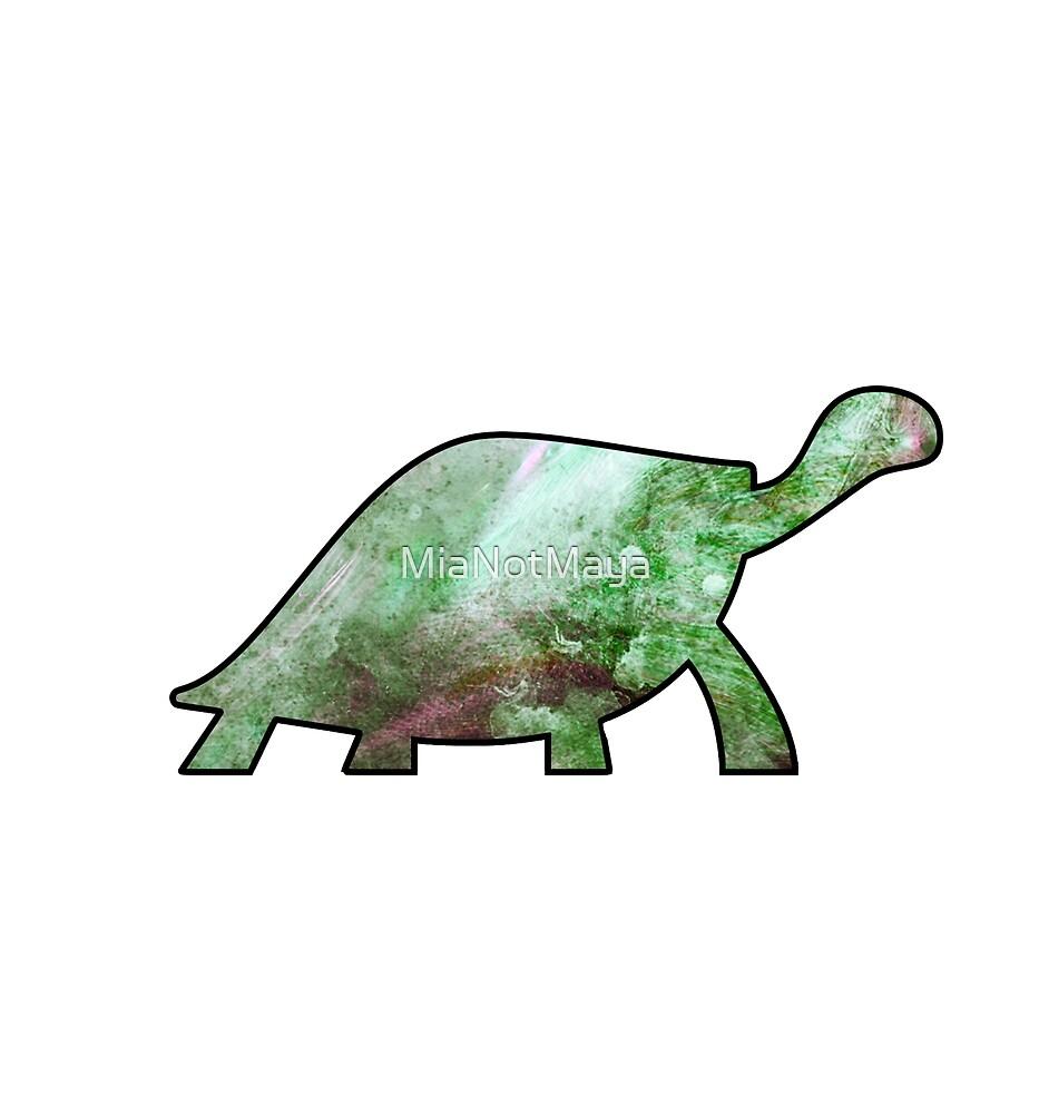 Green paint swirl turtle sticker by MiaNotMaya