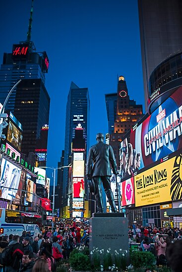 Times Square NY Overlooking the Square by WayneOxfordPh