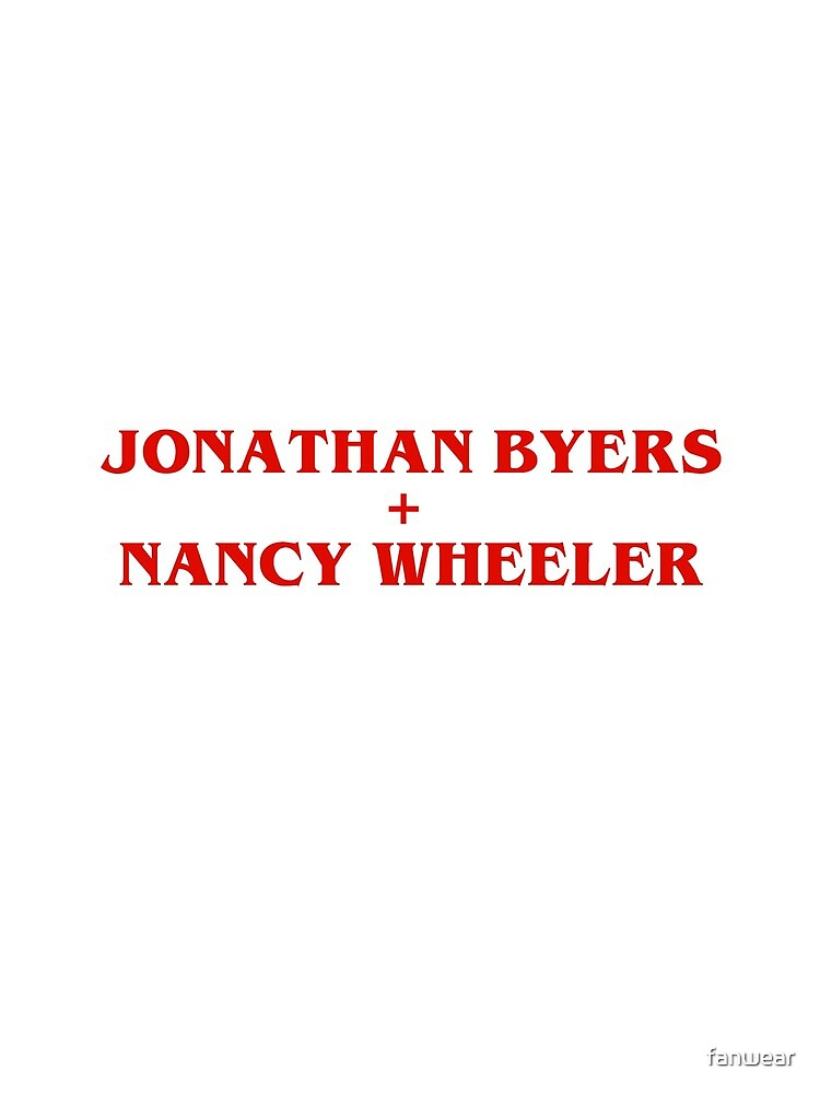 Jonathan Byers Plus Nancy Wheeler by fanwear