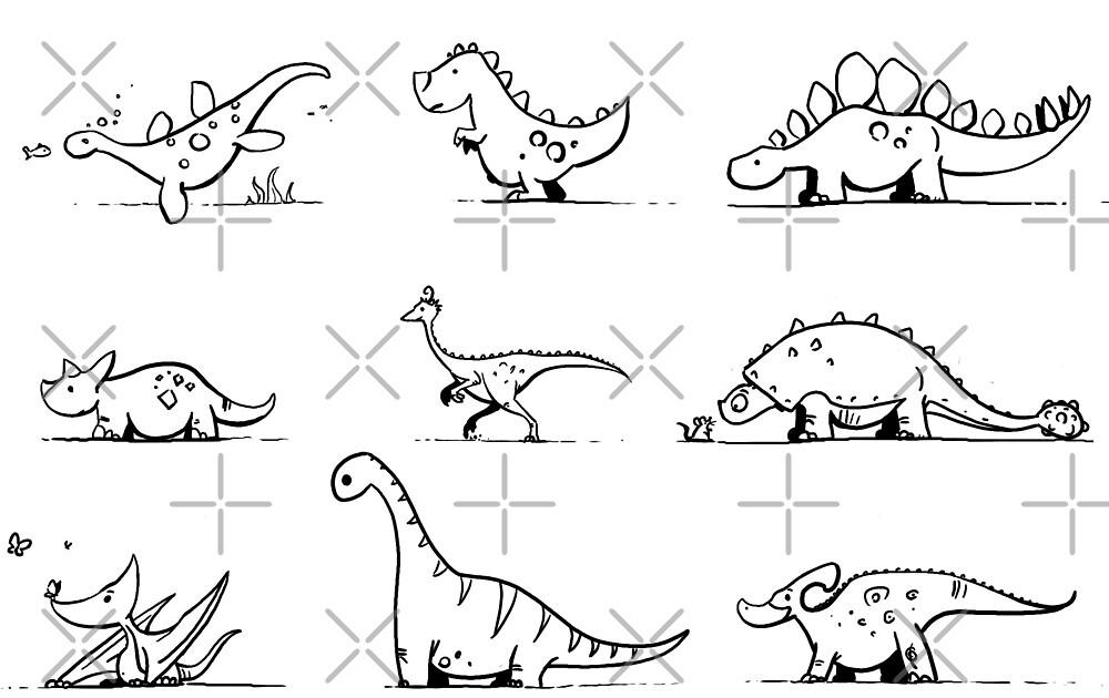 Dinosaur Pattern - Inked by DavidPeng