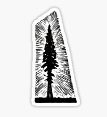 Redwood Tree Sticker