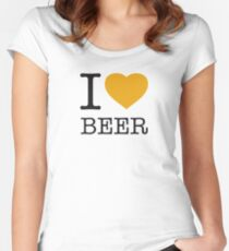 I ♥ BEER Women's Fitted Scoop T-Shirt