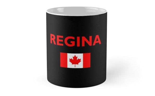 Regina Canada Canadian Flag Color Dark by TinyStarCanada