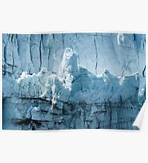 Close-up of a distinctive ice formation on the face of the Margerie Glacier  Poster