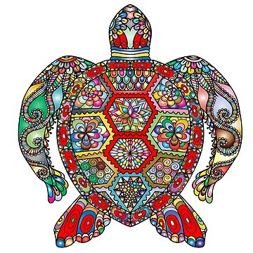 Artsy Sea Turtle by Crtive