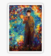 time lord with screwdriver Abstract Sticker