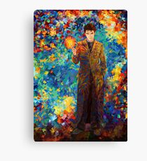 time lord with screwdriver Abstract Canvas Print