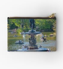 Central Park Water Fountain New York NY Studio Pouch