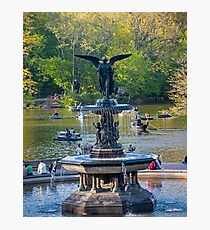 Central Park Water Fountain New York NY Photographic Print