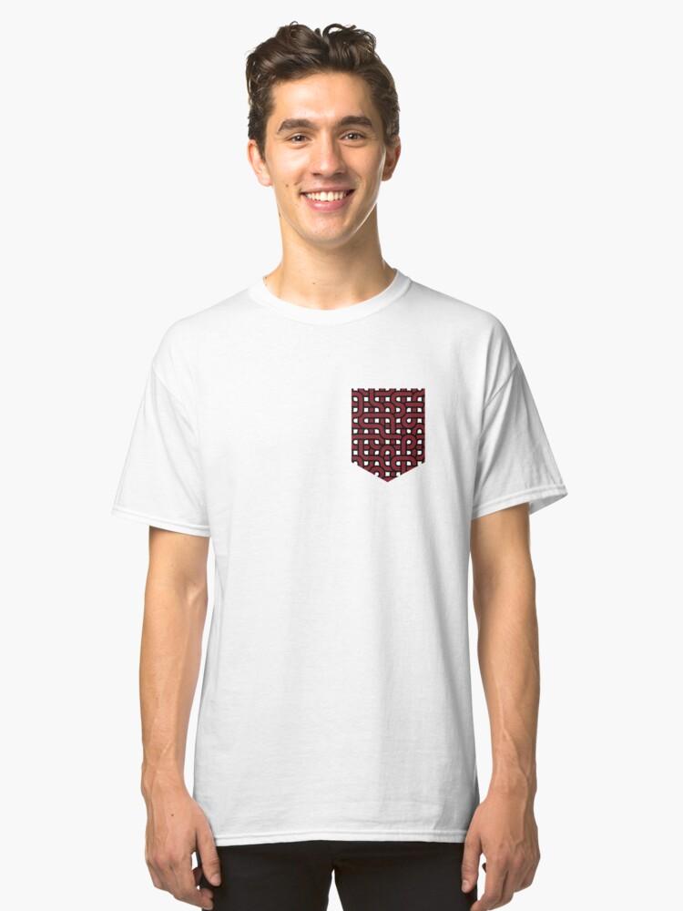 Infinite loop (fake pocket) Classic T-Shirt Front