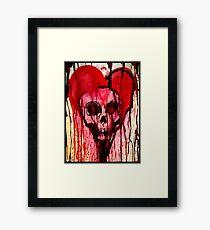 Bloody Heart/Doomed Romantic Framed Print