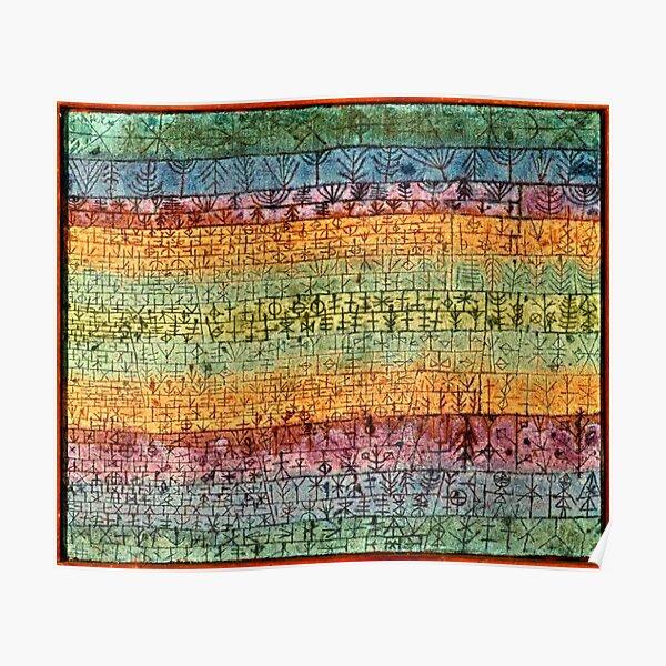 Oeuvre de Paul Klee, pépinière d'arbres Poster
