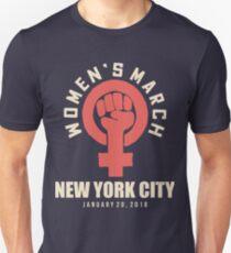 wOMEN'S MARCH 20 JANUARY NEW YORK CITY Unisex T-Shirt