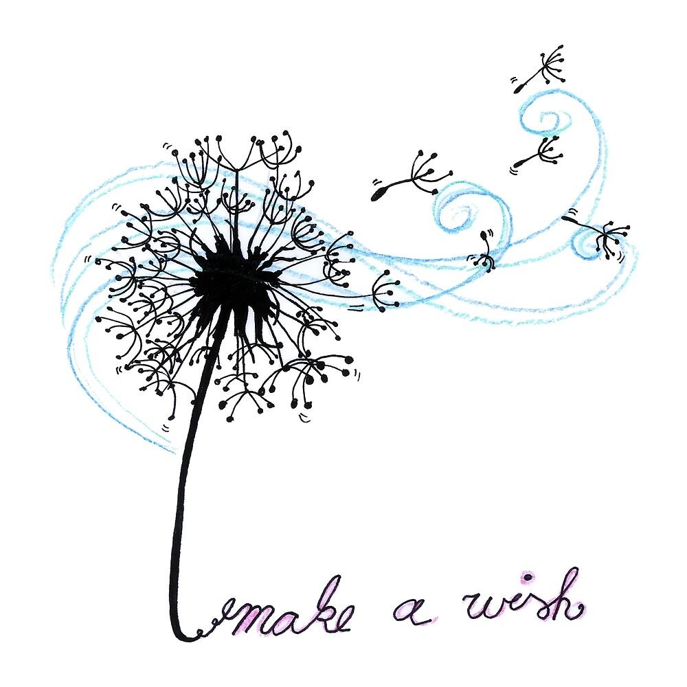Make A Wish Dandelion Flower Art Design Gift by HighArtDesigns