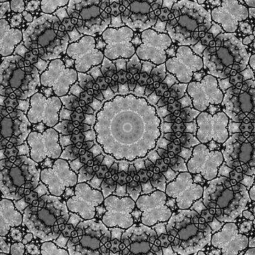 Black and White Lace Mandala A541B by byNicol