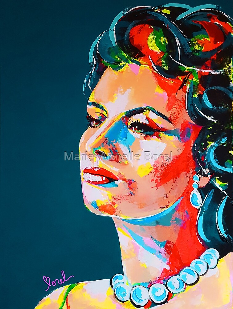 Sophia Loren art painting by Marie-Armelle Borel