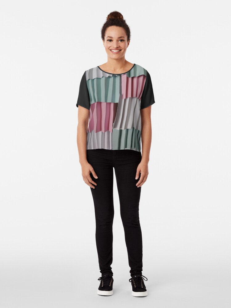 Alternate view of 3D Surface, 3D, Surface Chiffon Top