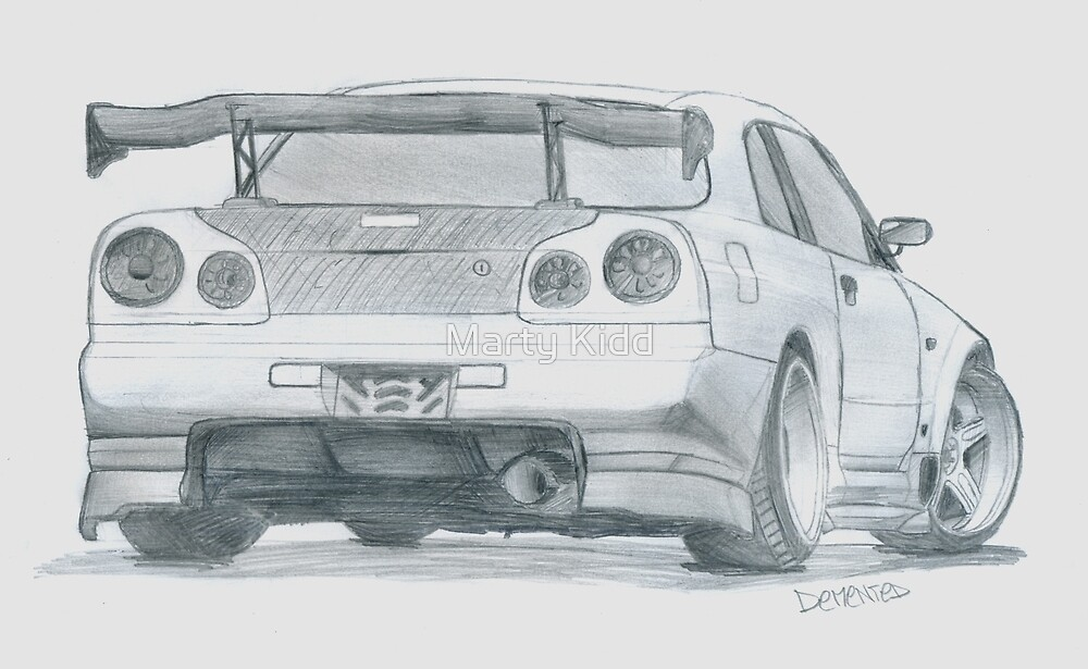 Skyline Drawing by Marty Kidd