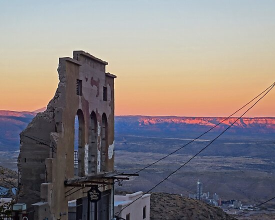 Jerome AZ Ruins Sunset Jerome Arizona by WayneOxfordPh