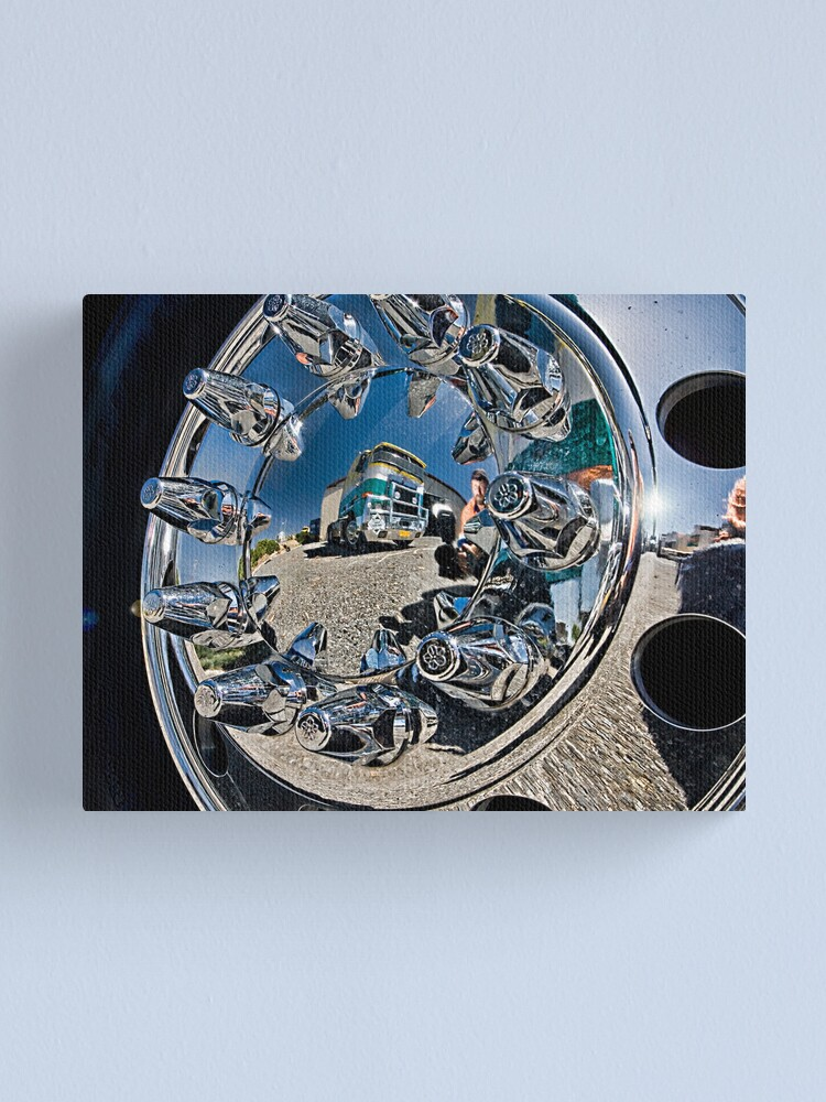 Alternate view of The Wheel Me and a Truck. Canvas Print