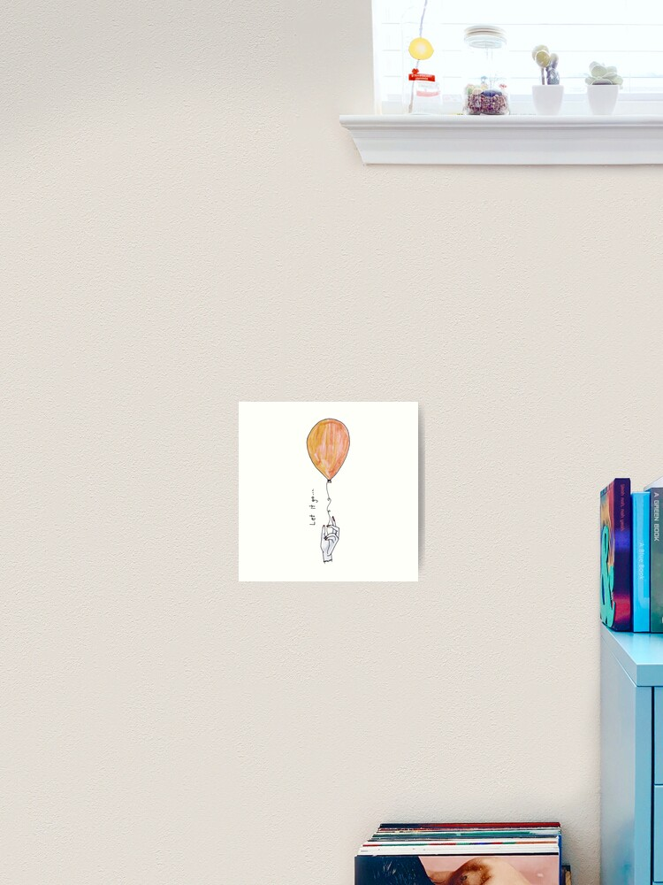 Let It Go Balloon Motivational Wall Art