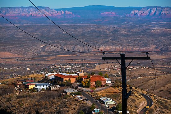 Looking down from Jerome AZ Arizona by WayneOxfordPh