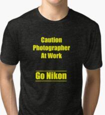 Camiseta de tejido mixto nikon
