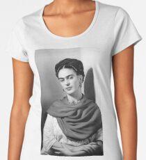 Black and White Frida Kahlo Women's Premium T-Shirt