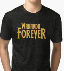 Wakanda Forever Yellow Tri-blend T-Shirt