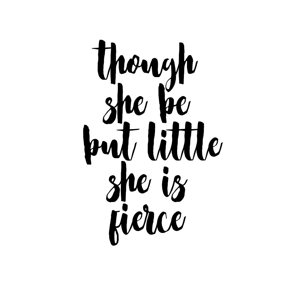Though She Be But Little She is Fierce  by Adele Mawhinney