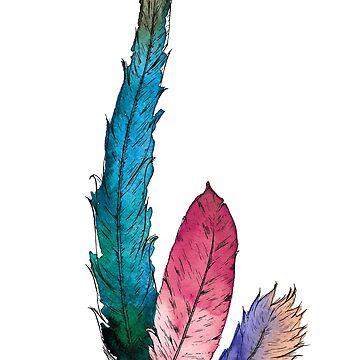 Feather trio II by fraueisvogel