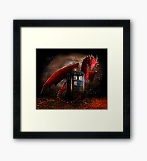 Blue Phone Booth at Dragon Nest Framed Print