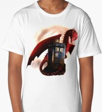 Blue Phone Booth at Dragon Nest Long T-Shirt
