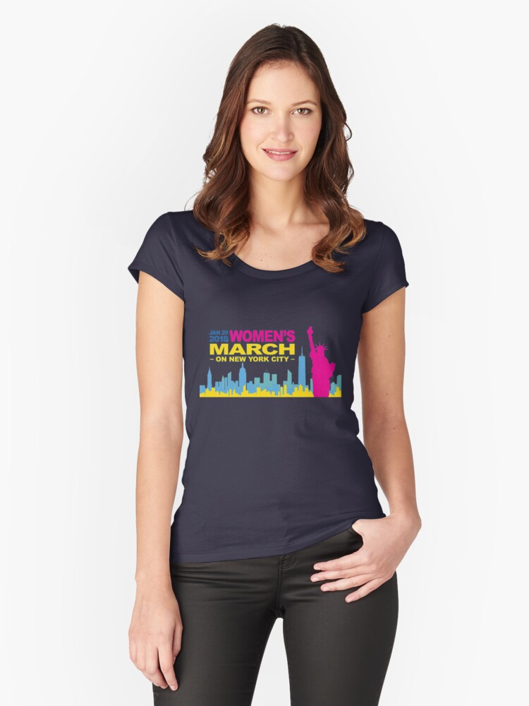 Womens March day Women's Fitted Scoop T-Shirt Front