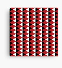 Red, black and white vector pattern Canvas Print