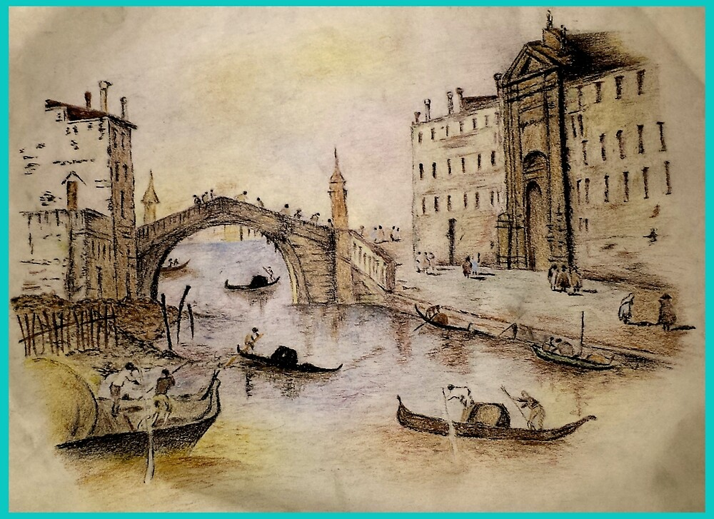 My Venice drawing by LELE PROJECT