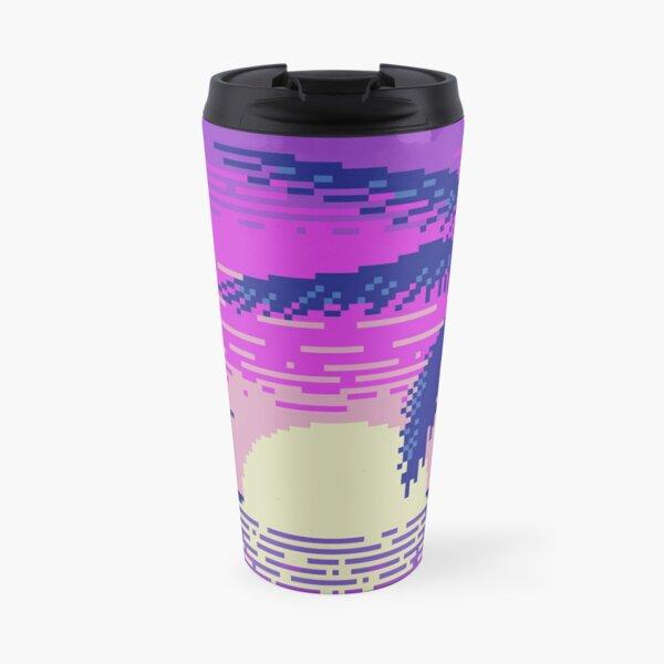 Pixel Sunset Travel Mug