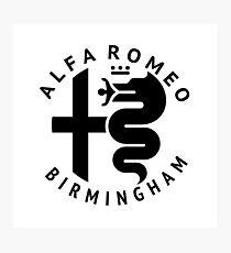 Alfa Romeo of Birmingham Crest Photographic Print