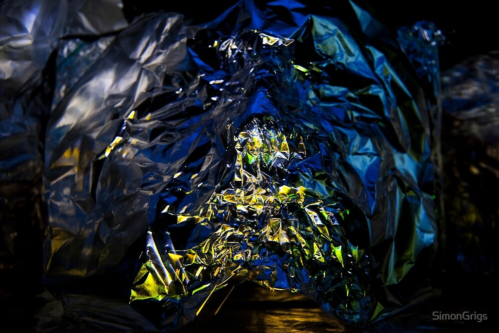 Ambient Lights and Reflections, Blue and Yellow  by SimonGrigs