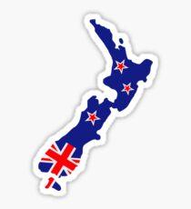 New Zealand map flag Sticker