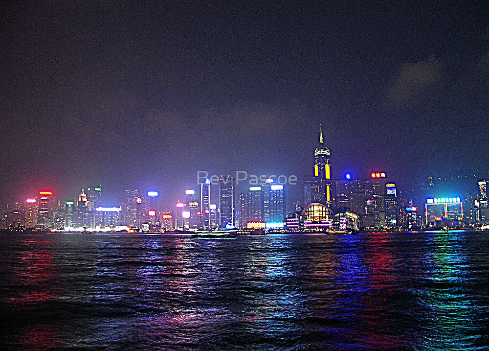 Hong Kong as seen from Kowloon by Bev Pascoe
