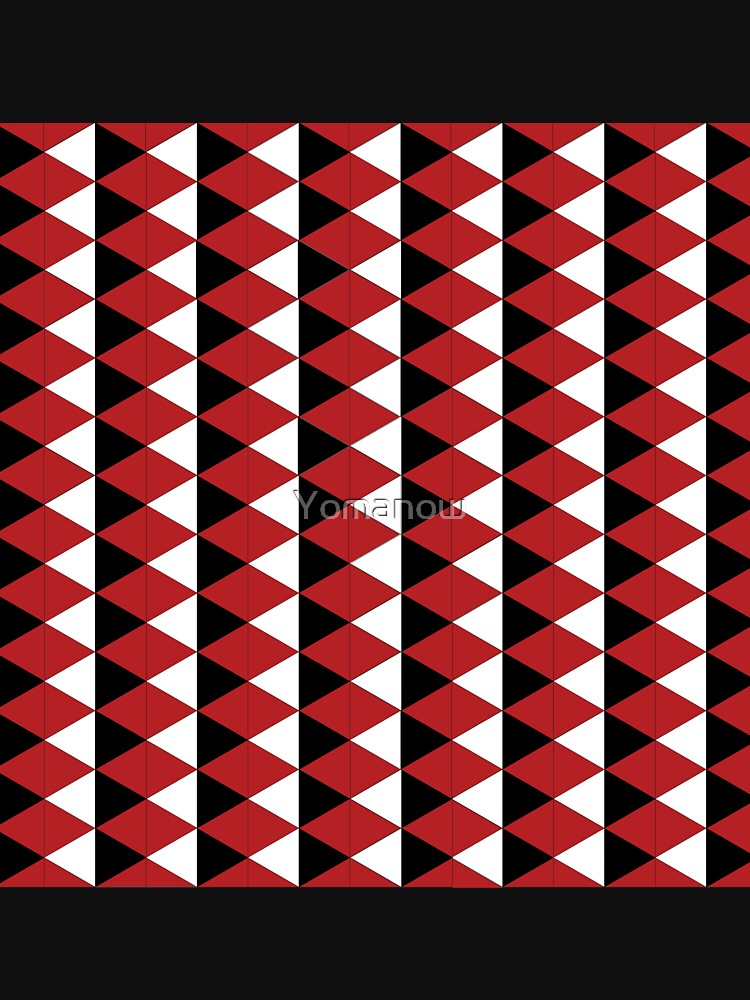 Red, black and white vector pattern by Yomanow