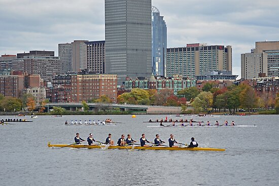 Head of the Charles. Charles rowers by WayneOxfordPh