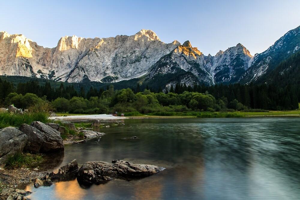 Sunset at the lake of Fusine, Italy by zakaz86