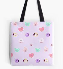 bt21 pastel pattern Tote Bag